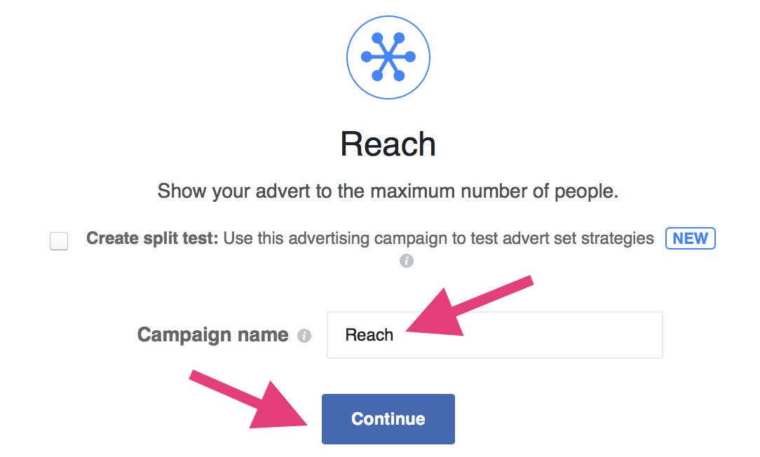 "facebook organic reach choose campaign type"" width=""542"" height=""326"