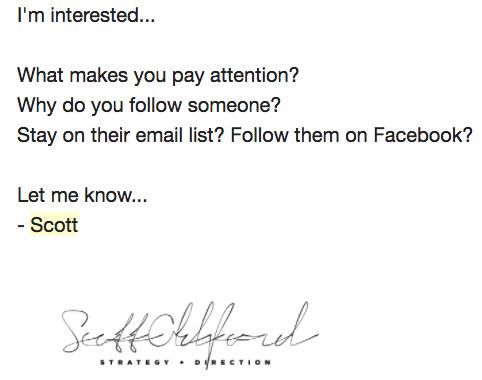 ejemplo de correo electrónico de despersonalización de scott