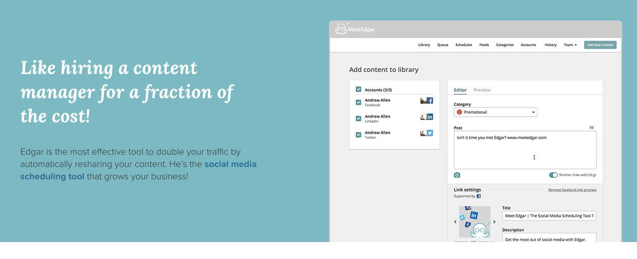 Organización de pequeñas empresas: herramienta de publicación en redes sociales