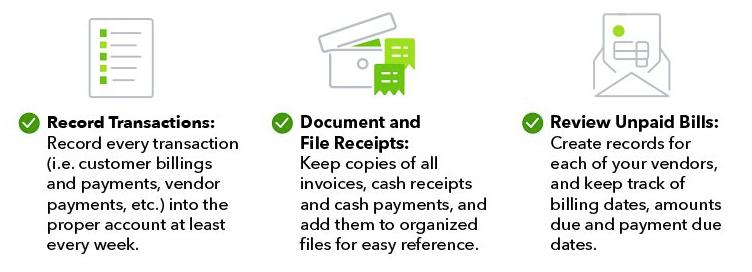 Organización de pequeñas empresas: seguimiento del informe de gastos de la herramienta TP