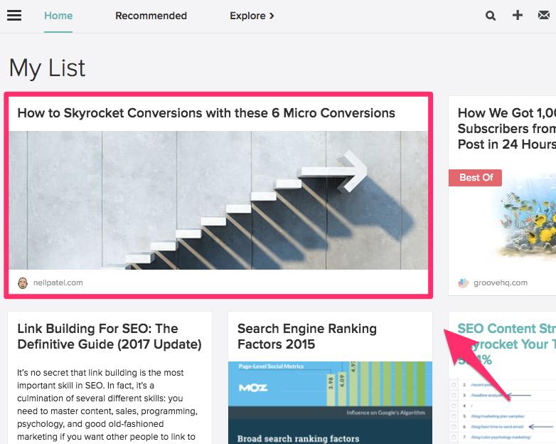 Organización de pequeñas empresas 2021: cómo aparecen los artículos nuevos en su feed