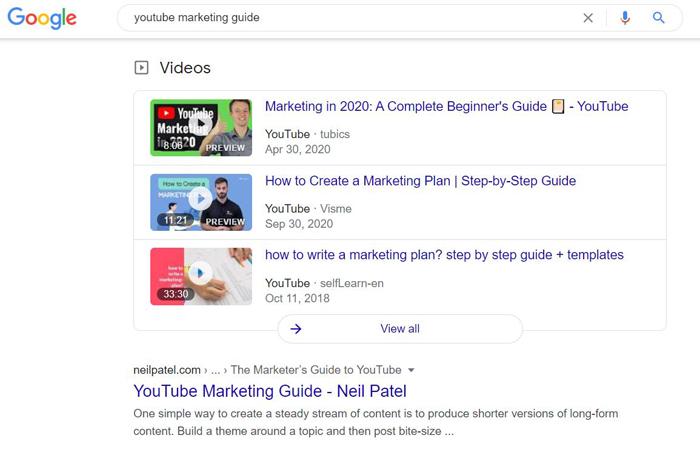 Incrustar videos - guía de marketing de YouTube de NeilPatel