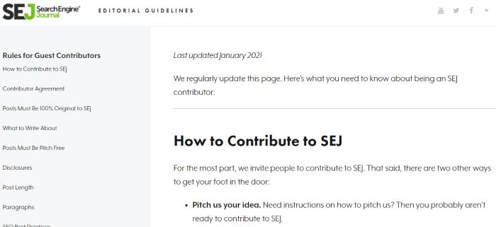 Reglas de blogs invitados Tendencias de marketing entrante de SEJ