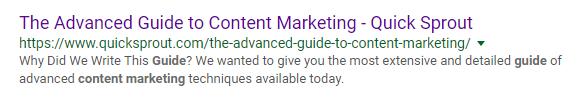 ejemplo de una campaña de construcción de enlaces