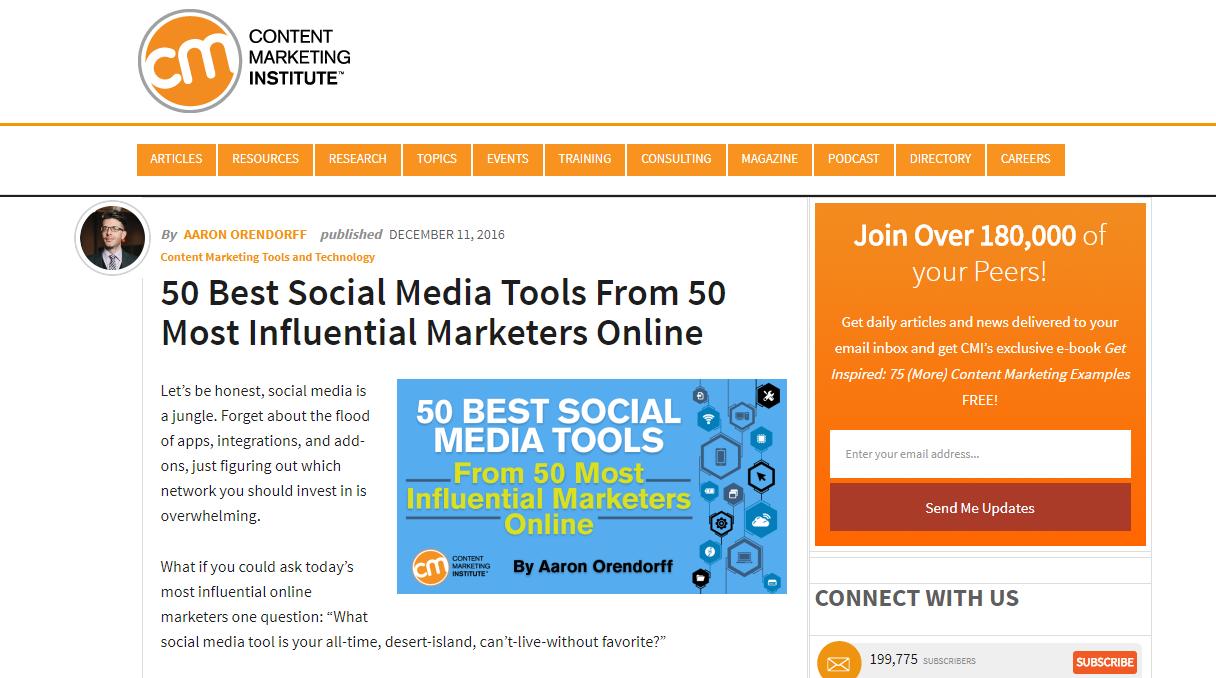 campaña de construcción de enlaces mejores herramientas de redes sociales
