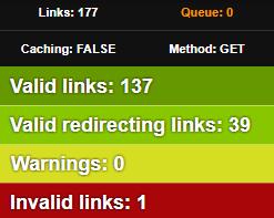 campaña de construcción de enlaces encontrando enlaces rotos