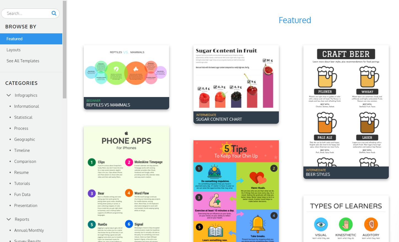 venngage para la construcción de enlaces con infografías