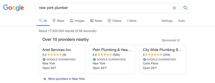 Servicios locales de anuncios Gestión de clientes potenciales de Google Ads
