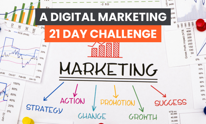 Desafío de marketing digital de 21 días