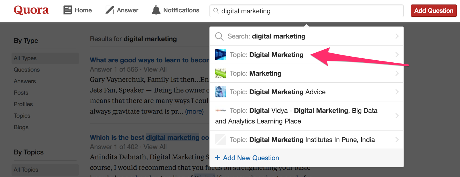 Search Quora Digital Marketing para la generación de leads