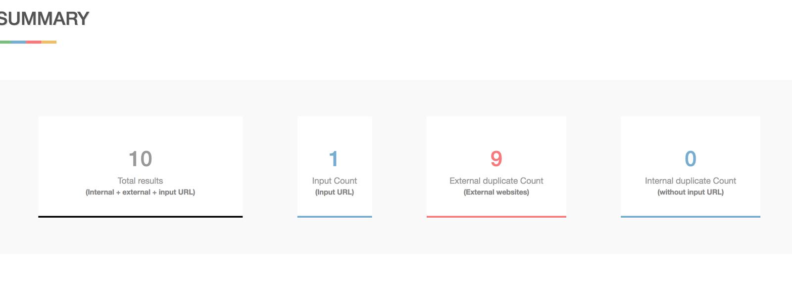 consulte la guía de clasificación para ver si hay contenido duplicado