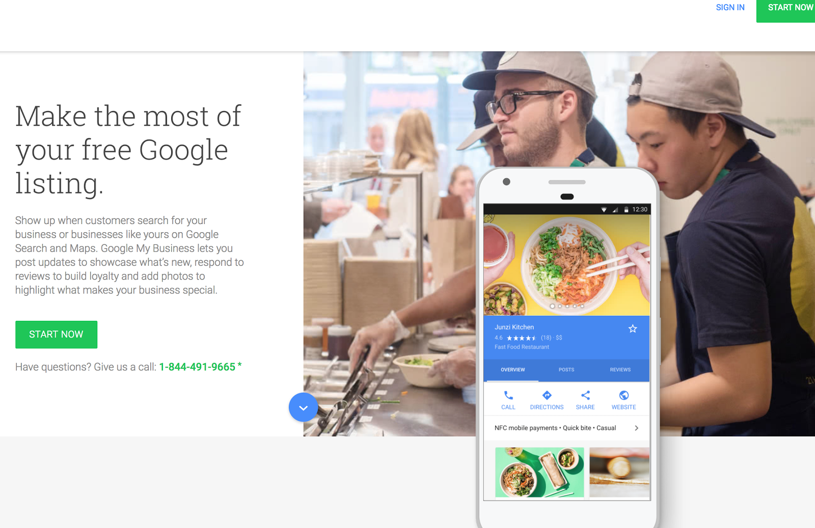 guía de clasificación afirma google mi negocio