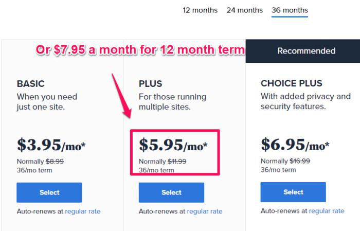 ejemplo de precio de dominio de sobrecarga de comercio electrónico