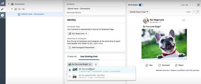 Cómo editar anuncios sociales pagados en Ad Manager en Facebook