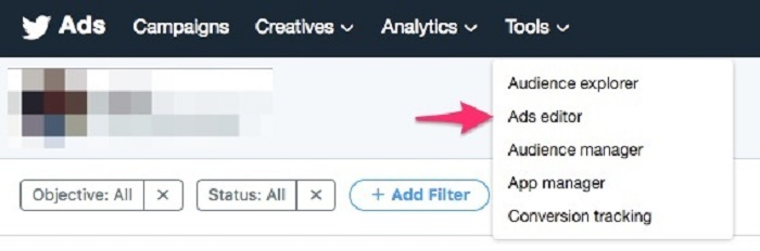 Cómo editar un anuncio en Twitter: editor de anuncios