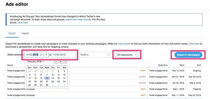 Cómo editar anuncios en Twitter: ajustar la configuración