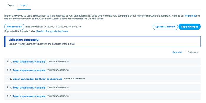 Cómo editar anuncios pagados en Twitter: carga y confirmación de cambios