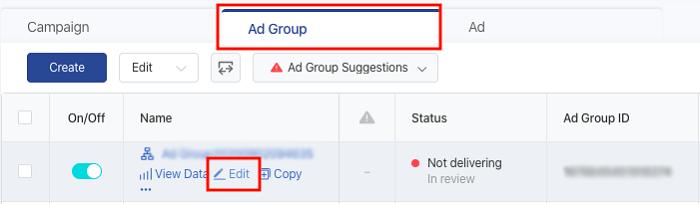 Cómo editar anuncios en TIkTok usando la función de anuncios grupales