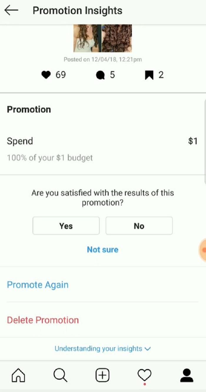 cómo editar anuncios de instagram pagados - usar estadísticas de promoción