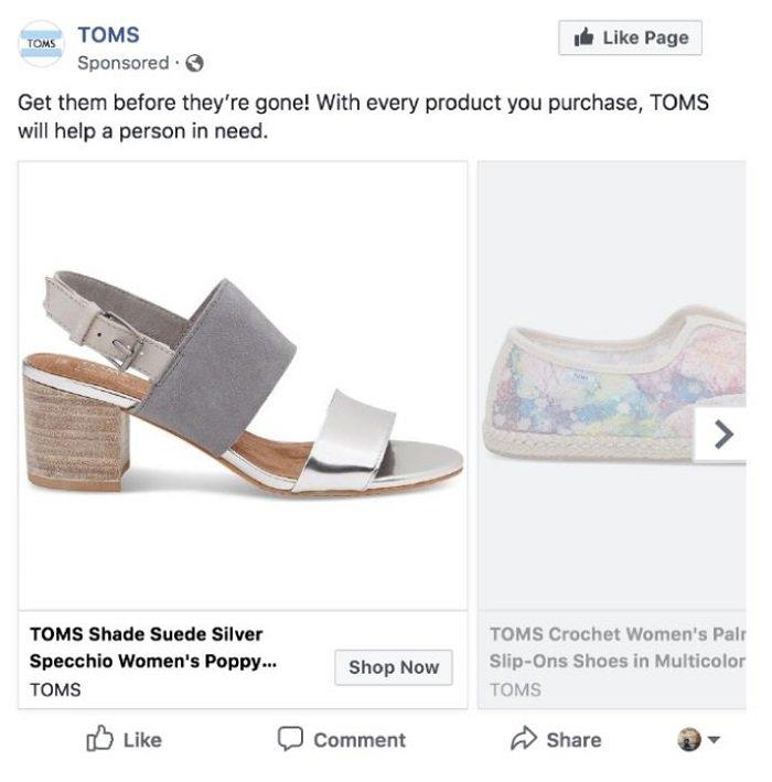 publicidad patrocinada toms marketing ético