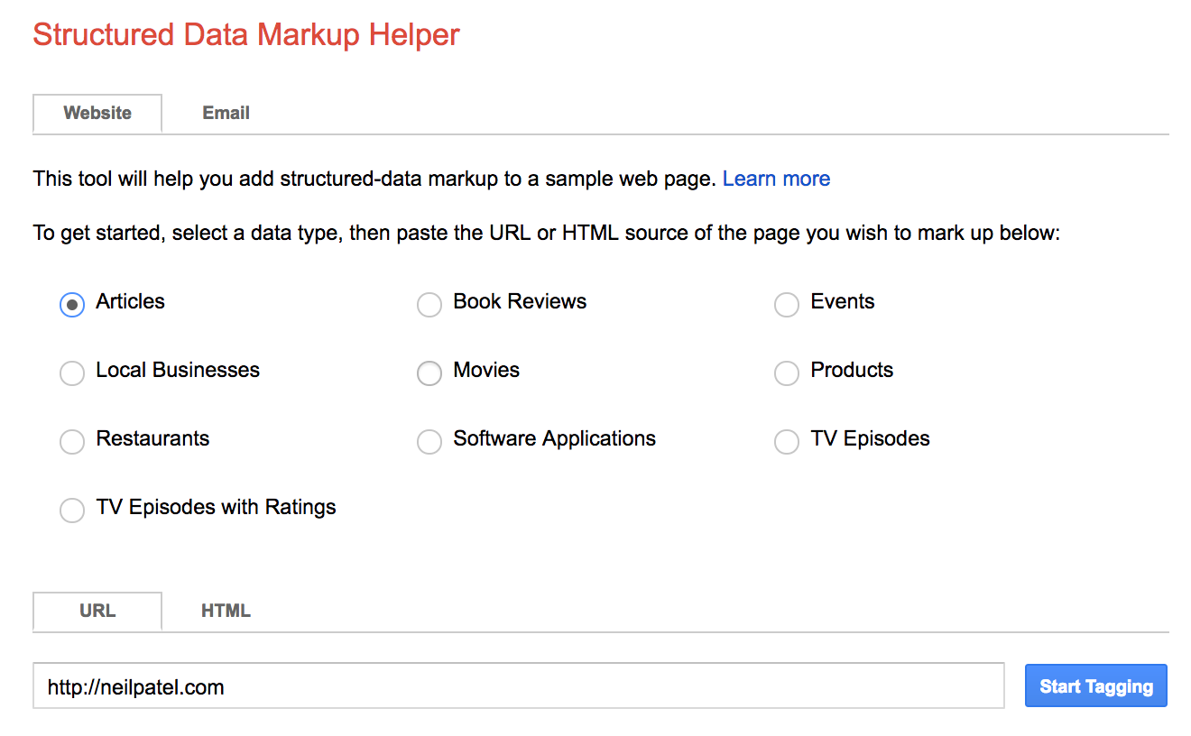 "structured data mark up helper website index guide "" width=""660"" height=""408"