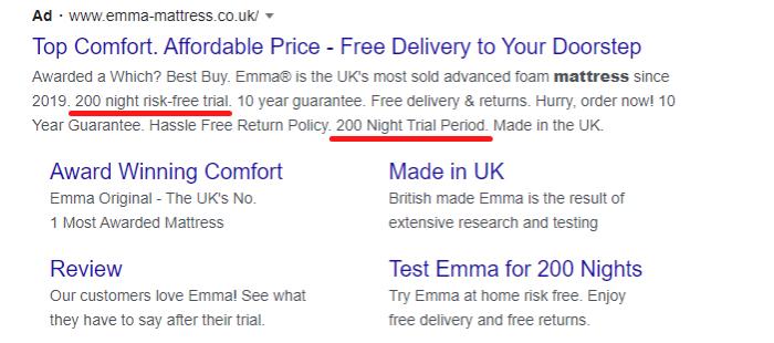 ejemplo de promoción de ventas para campañas pagas