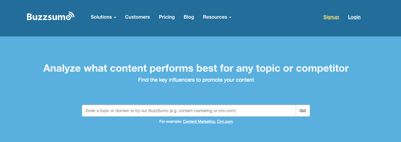 herramienta de marketing de contenido viral buzzsumo