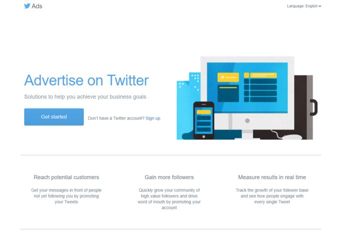 consejos de redes sociales: anuncios de Twitter