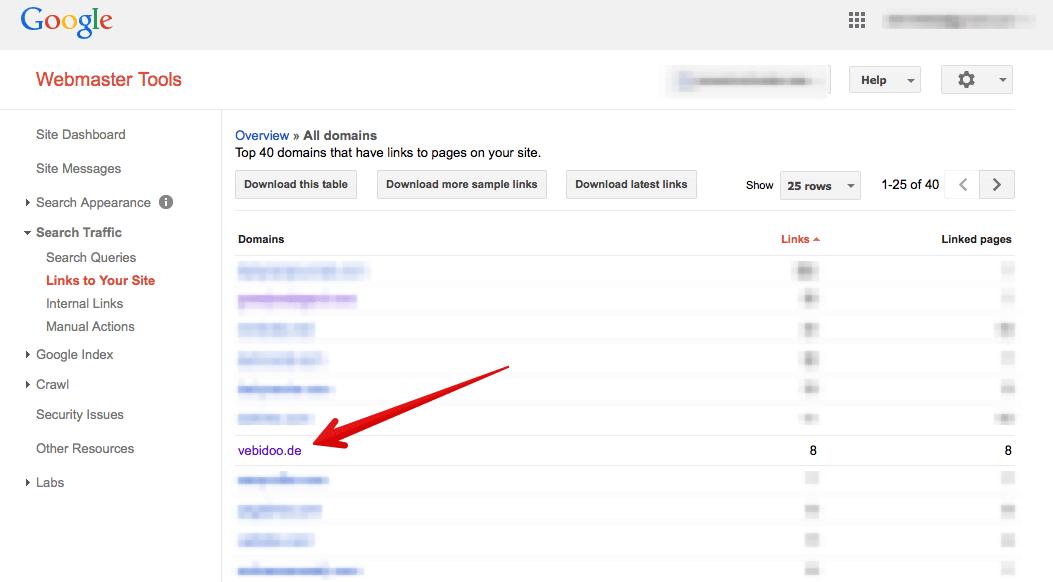Google Webmaster Tools Enlace Perfil SEO Empresa