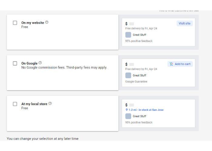 Productos de Google Trusted Stores
