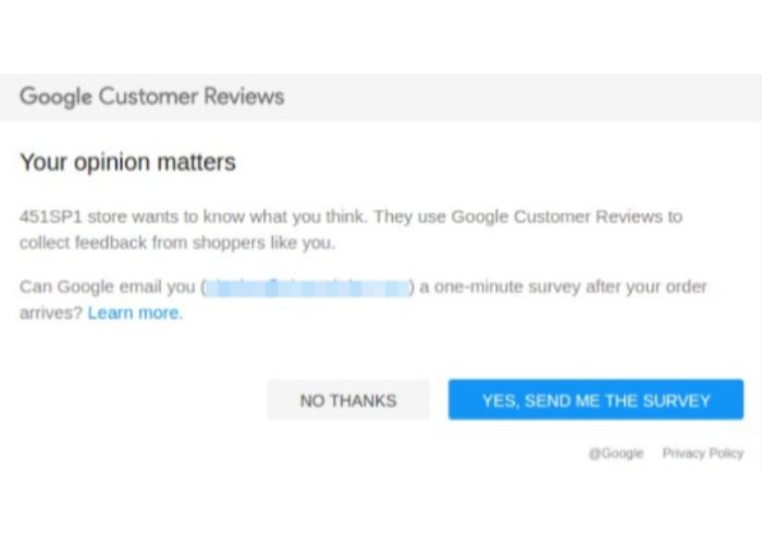 Reseñas de clientes de Google Trusted Stores