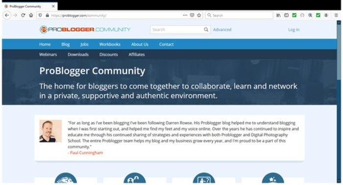 Tendencias de marketing de contenidos en 2021: problema de ejemplo de creación de comunidades