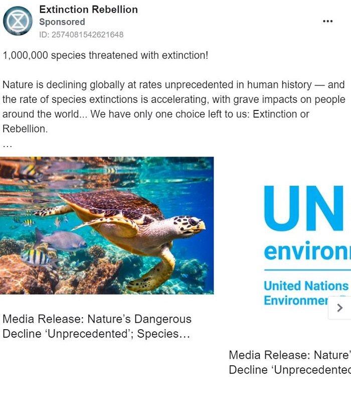 publicidad carrusel de facebook - extinción