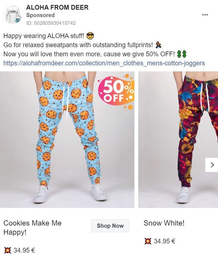 publicidad carrusel de facebook - ciervo aloha