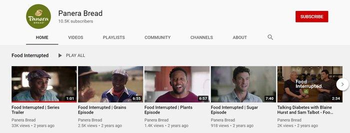 comida interrumpida panera marketing ético panera transparencia