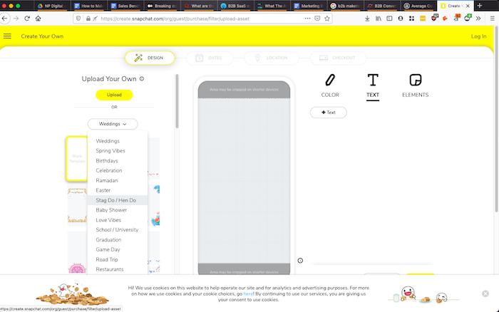 crear un filtro de Snapchat