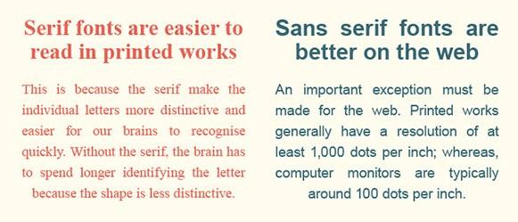 serif vs sans serif ¿cómo se prueba una página web?