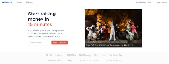 Empresas de crowdfunding de renta variable - WeFunder