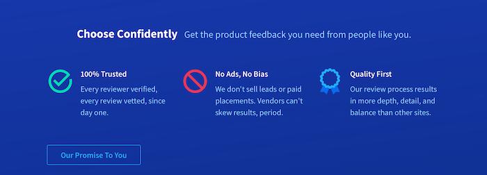 Revise los sitios para obtener más opiniones de los clientes - TrustRadius