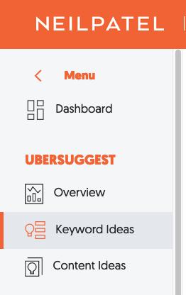 Búsqueda de palabras clave de la herramienta SEO gratuita de Ubersuggest