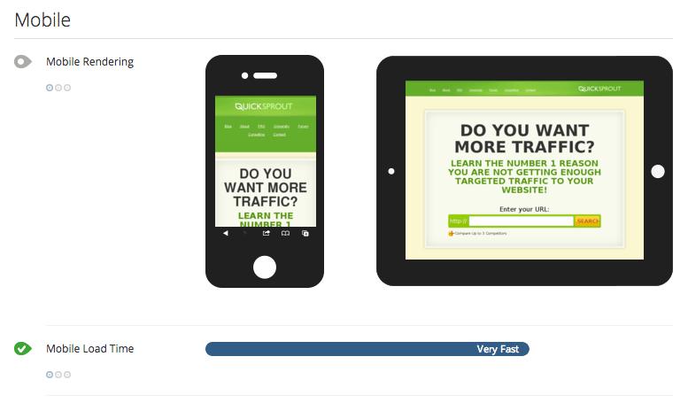 Herramientas SEO gratuitas para dispositivos móviles QuickSprout