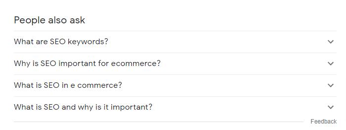 La gente también ask box es una gran herramienta para encontrar palabras clave en cualquier lugar.