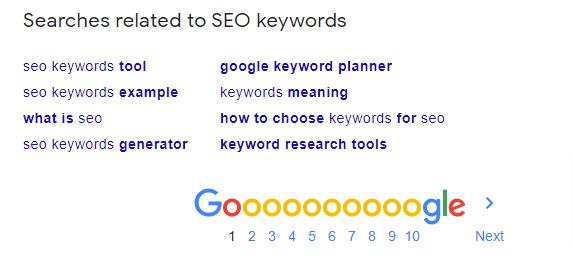 cuando busque palabras clave en todas partes, no olvide el cuadro de búsqueda de Google asociado.