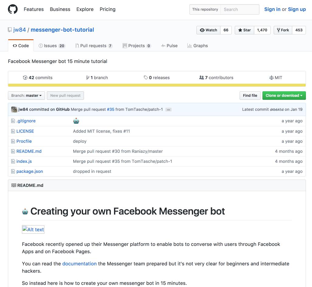"""crea tu propio bot de mensajería de Facebook """"width ="""" 700 """"height ="""" 707"""