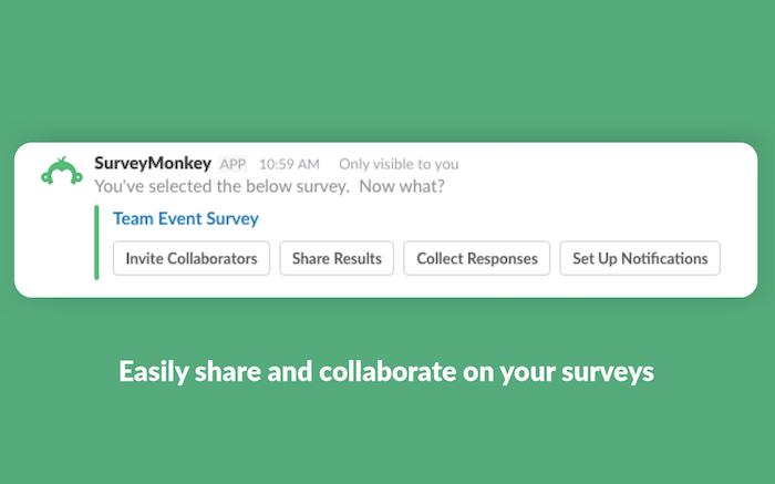 Aplicación Survey Monkey Slack