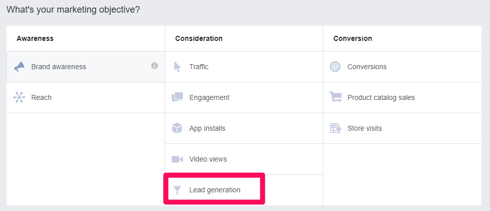 """sms marketing elige un objetivo en los anuncios de facebook """"width ="""" 700 """"height ="""" 302"""