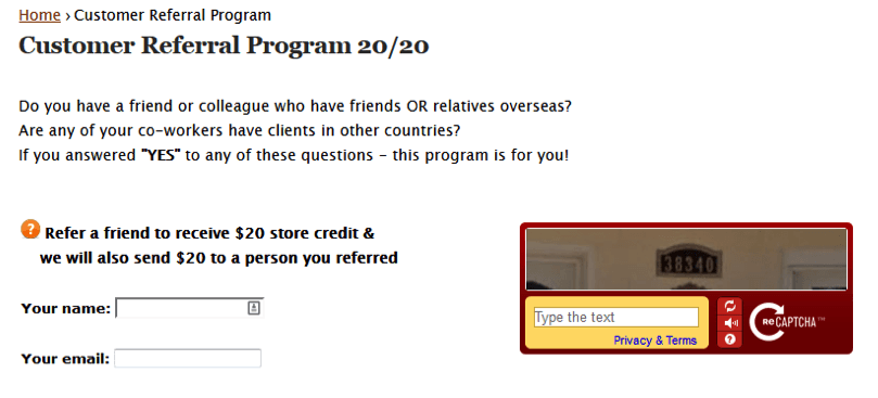 lista de marketing por correo electrónico: referencia del cliente