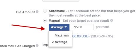 ¿Cuánto cuestan los anuncios de Facebook con entrada manual?