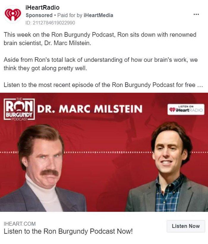 Promocionar un podcast: ejemplo de iHeartRadio