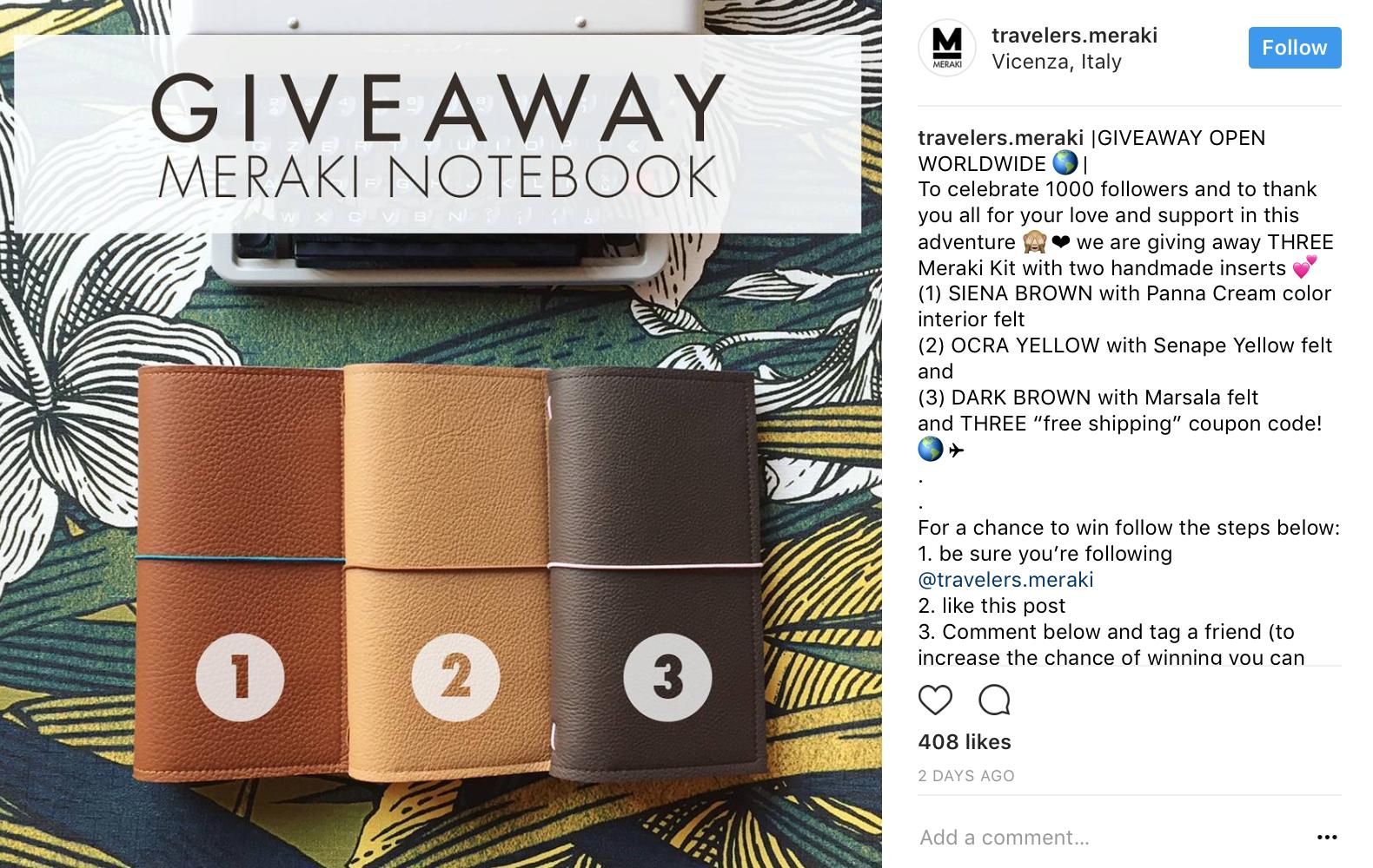 """ideas de concurso de instagram - ejemplo de descripción (cuaderno meraki) """"ancho ="""" 700 """"alto ="""" 500"""